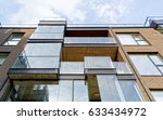 fragment of modern architecture ... | Shutterstock . vector #633434972