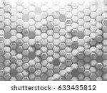 white shaded abstract geometric ... | Shutterstock . vector #633435812