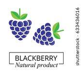 blackberry label | Shutterstock .eps vector #633436016
