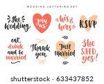 wedding invitations lettering... | Shutterstock .eps vector #633437852