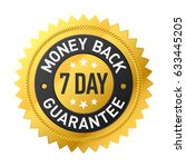 7 day money back guarantee label | Shutterstock .eps vector #633445205