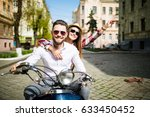 couple in love riding a... | Shutterstock . vector #633450452