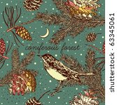 Winter Christmas Card With Bird