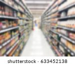 abstract blur shopping mall and ... | Shutterstock . vector #633452138