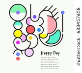 colorful abstract shapes | Shutterstock .eps vector #633457658