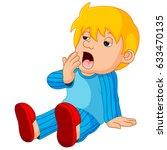 vector illustration of cute boy ... | Shutterstock .eps vector #633470135