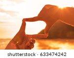 silhouette picture  finger hand ... | Shutterstock . vector #633474242