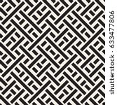 interlacing lines maze lattice. ... | Shutterstock .eps vector #633477806