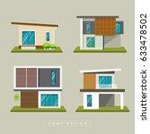 home exterior modern design... | Shutterstock .eps vector #633478502