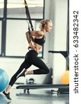 blonde fitness woman training... | Shutterstock . vector #633482342