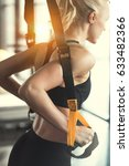 blonde fitness woman training... | Shutterstock . vector #633482366