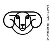 linear stylized drawing   head... | Shutterstock .eps vector #633482996