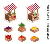isometric flat 3d isolated... | Shutterstock .eps vector #633485582