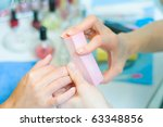 manicure in process | Shutterstock . vector #63348856