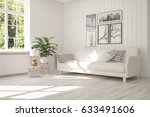 white room with sofa and green... | Shutterstock . vector #633491606