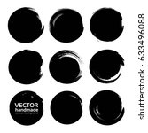 circle textured abstract black... | Shutterstock .eps vector #633496088
