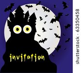 halloween invitation or... | Shutterstock .eps vector #63350458