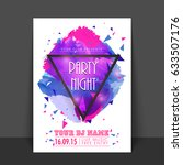 party night flyer  template or... | Shutterstock .eps vector #633507176
