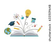 book and icon set. school... | Shutterstock .eps vector #633509648
