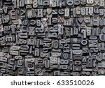 metal letters background | Shutterstock . vector #633510026