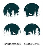 hand drawn isolated set of... | Shutterstock .eps vector #633510248