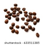 roasted coffee beans isolated...   Shutterstock . vector #633511385