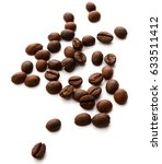 coffee beans diagonal | Shutterstock . vector #633511412