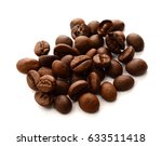 roasted coffee beans isolated... | Shutterstock . vector #633511418