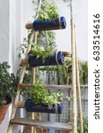 a vertical garden made with... | Shutterstock . vector #633514616