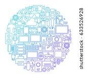 gadget line icon circle design. ...   Shutterstock .eps vector #633526928