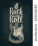 electric guitar. rock and roll... | Shutterstock .eps vector #633528185