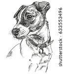 vector portrait of dog jack... | Shutterstock .eps vector #633553496