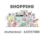 shopping concept illustration... | Shutterstock . vector #633557888