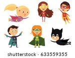 children  colorful costumes of... | Shutterstock .eps vector #633559355