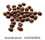 coffee beans closeup on white... | Shutterstock . vector #633565856