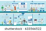 vet clinic set interior.... | Shutterstock . vector #633566522