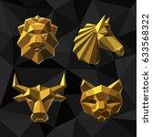 Illustration Golden Animals...