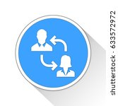 business people button icon... | Shutterstock . vector #633572972