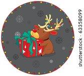 illustration of reindeer and... | Shutterstock . vector #63358099