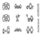 father icons set. set of 9... | Shutterstock .eps vector #633582398