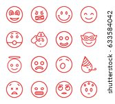 smiley icons set. set of 16... | Shutterstock .eps vector #633584042