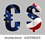 euro and dollar signs | Shutterstock .eps vector #633598325