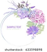 spring floral bouquet banner... | Shutterstock .eps vector #633598898