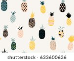 vector summer pattern with... | Shutterstock .eps vector #633600626
