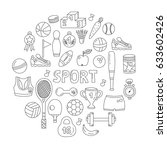 sport activities training... | Shutterstock .eps vector #633602426