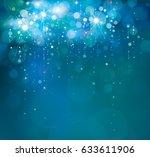 vector blue  lights background. | Shutterstock .eps vector #633611906