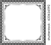 classic vector square frame... | Shutterstock .eps vector #633616592