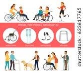 disabilities infographic... | Shutterstock .eps vector #633617765