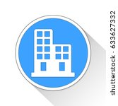 buildings button icon business