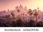 beautiful sunset of los angeles